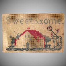 Perforated Paper Sweet Home Rug or Picture for a Dollhouse