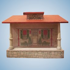 Cass and Converse One Room Printed Wooden Dollhouse 1928