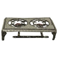 "Tynietoy 1"" Soft Metal 2 Burner Hot Plate Dollhouse Accessory"