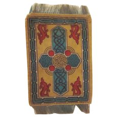 "Art Deco Design Flannel Tobacco Premium 5x3"" Dollhouse Rug #3"