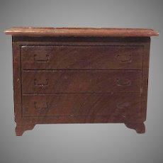 "Kage 3/4"" Wooden Three Drawer Chest Dollhouse Furniture"