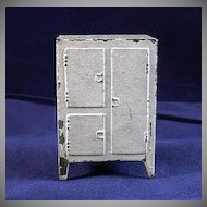 Made in France Pot Metal Ice Box Dollhouse Furniture