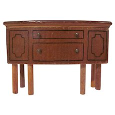 "Kage 3/4"" Wooden Buffet with Straight Dowel Legs Dollhouse Furniture"