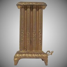 "Vintage Gilt Heavy  Cast Metal 1"" Dollhouse Steam Radiator Accessory"
