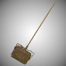 "Vintage Soft Metal Gilt 1"" Carpet Sweeper Germany Dollhouse  Accessory"