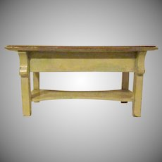 """Early 1"""" Kitchen Work Table with a Shelf Dollhouse Furniture"""