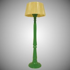 "Renwal 3/4"" No. 70 Green Floor Lamp Dollhouse Miniature Accessory HTF"