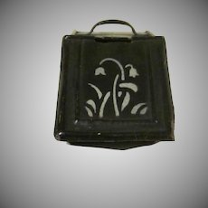"Vintage Tin Plate 1"" Coal Hod Scuttle Dollhouse Accessory"