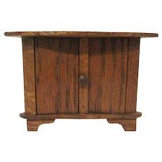 """Vintage 1"""" Shorter Wooden Corner Cabinet Dollhouse Furniture"""