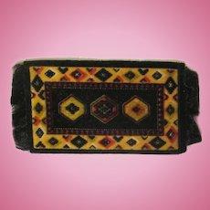 Vintage Flannel Tobacco Premium Dollhouse Rug in Black #3