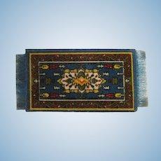 Vintage Flannel Tobacco Premium Dollhouse Rug #5