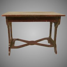 "Vintage Wooden 1"" Library or Kitchen Table Dollhouse Furniture"