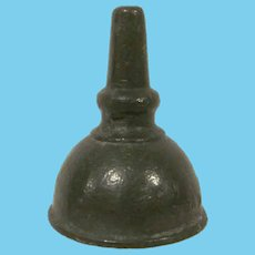 Vintage Cast Metal Miniature Funnel Embossed Ever Hot Dollhouse Accessory