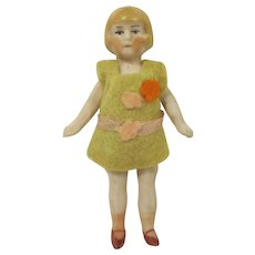 Made in Germany Jointed Bisque Sister Dollhouse Doll 1920s