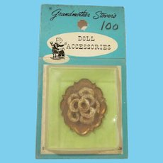 Grandmother Stover's Plate with Cookies Dollhouse Accessory on Original Card