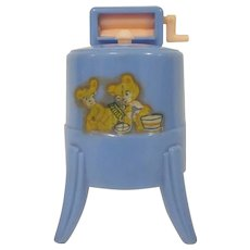 "Renwal 3/4"" No. 31 Blue Washing Machine Complete Dollhouse Furniture"