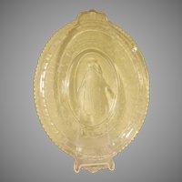 EAPG Minerva  Daily Bread Pattern Glass Tray
