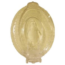 EAPG Minerva  Daily Bread Pattern Glass Tray