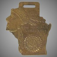 Early American Legion Eau Claire Wisconsin Native American Watch Fob