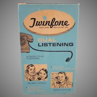 Twinfone Dual Listening Acoustical Telephone Amplifier with Original Box