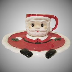 Vintage Boxed Enesco Santa Snack Set Made in Japan