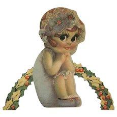 Splash Me Doll Merry Christmas A Perfect Lady Christmas Card HTF 1920