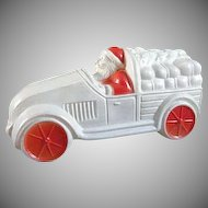 Viscoloid Celluloid Santa in a Truck Toy
