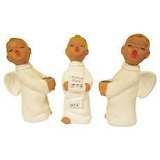Vintage Boxed Sterling Novelty Products 3 Piece Paper Mache Choir Boy  Angel Candlesticks Set Made in Japan Christmas Decoration