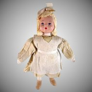 Spun Cotton, Crepe, and Composition Little Girl Russian Christmas Ornament