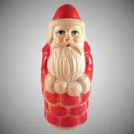 Viscoloid Santa in Chimney Celluloid Rattle Roly Poly