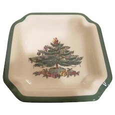 Spode England China Christmas Tree Pattern Ash Tray
