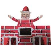 Tin Litho Made in Japan Santa Sparkler with Original Package Works!!