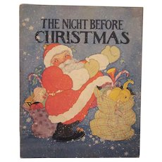 The Night Before Christmas Soft Cover Book Illustrated by Fern Bisel Peat 1932