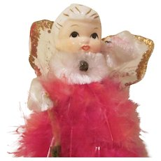 Made in Japan Feather Angel with Bell Table Top Christmas Decoration