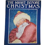The Night Before Christmas Soft Back Book Illustrated by Fern Bisel Peat 1936
