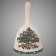 Spode England Christmas Tree Pattern Ceramic Dinner Bell