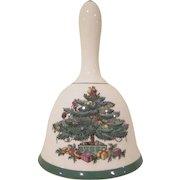 Spode England Christmas Tree Pattern Ceramic Dinner Bell