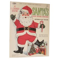 Vintage Whitman Santa's Night Before Christmas Press-Out Book 1966 Complete and Not Used