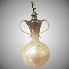 Victorian Thin Glass Sugar Bowl Christmas Tree Ornament