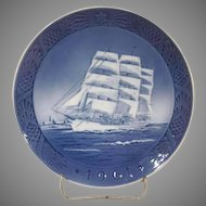 Royal Copenhagen Kai Lange The Training Ship Christmas Plate 1961