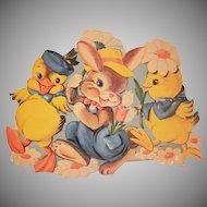 Vintage Printed in U.S.A. Colorful Easter Diecut