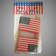 Made in Japan Package of 10  - 50 Star Flag Toothpicks Not Opened