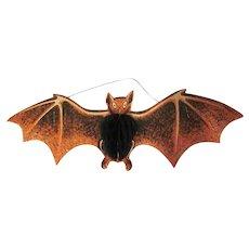 Beistle Orange, Black, and  White Bat Diecut with Tissue Honeycomb Body Halloween Decoration