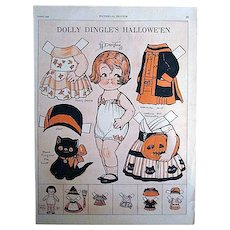 Grace Drayton's Dolly Dingle's Hallowe'en Paper Doll from Pictorial Review 1927
