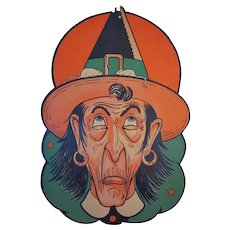 Beistle Halloween Large Witch Head with Mice Diecut