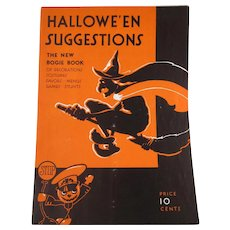 The New Bogie Book 1931 Halloween  Suggestions by Dennison soft back Vintage Book