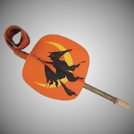 Early Made in Germany Blow Out Noisemaker? Haunted House and Witch