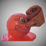 Early Made In Germany Halloween Jackolantern Horn with Blow Out Party, Trick or Treat Decoration