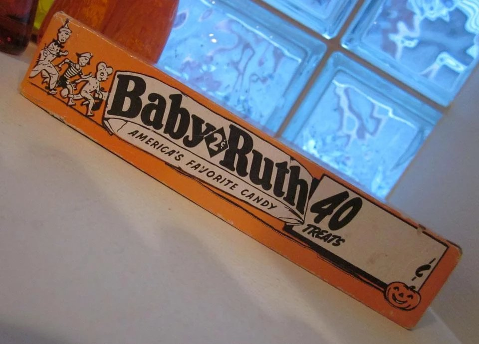 Vintage Curtiss Baby Ruth 1958 Candy Halloween Box 40 ...