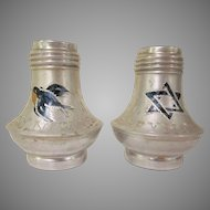 Early Happy New Year Metal Salt and Pepper Shakers